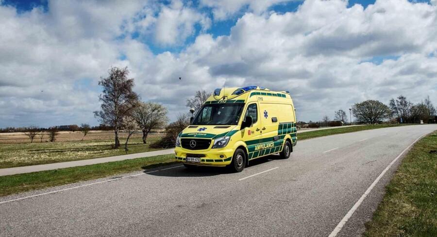 En trafikulykke i Rødovre har torsdag kostet en 27-årig mand livet. Free/Pressefoto, Falck