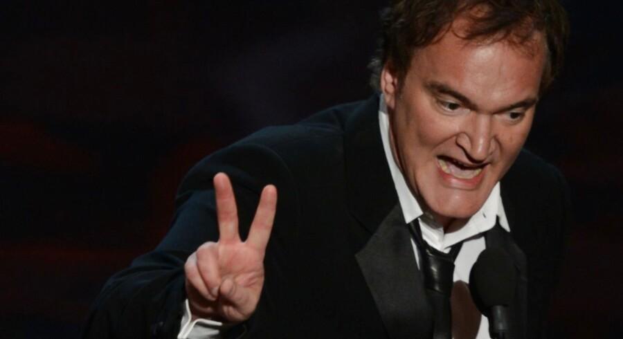Quentin Tarantino modtog en af sine sjældne Oscars for bedste manuskript.