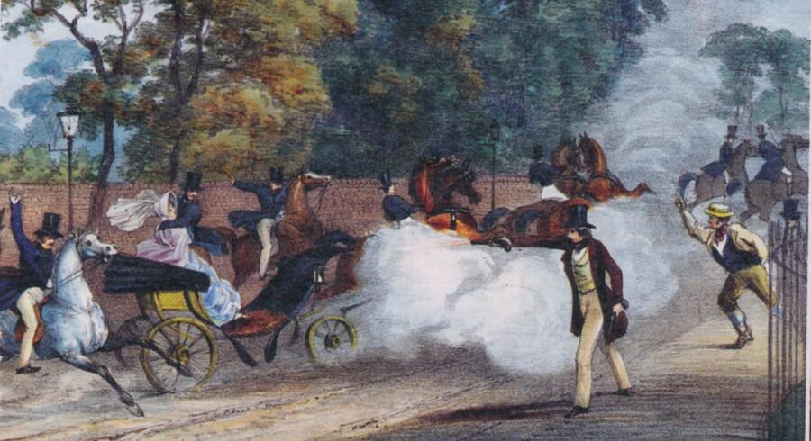 Edward Oxford skyder på dronning? Victoria og prins Albert, juni 1840.