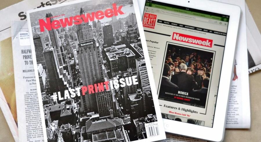 Den allersidste printudgave af nyhedsmagasinet Newsweek havde et såkaldt hashtag, der anvendes på det sociale medie Twitter, på forsiden for at markere overgangen til den digitale udgave.