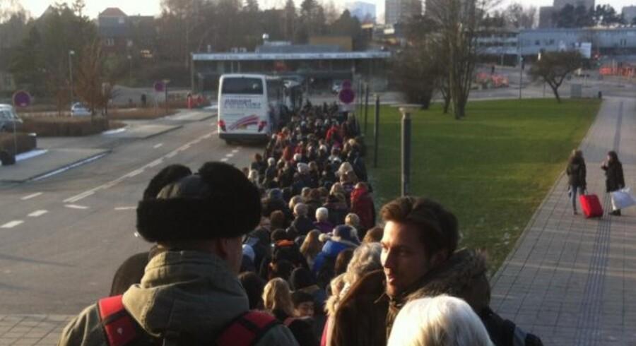 Togstoppet førte kæmpe køer af passagerer, der skulle krydse Lillebælt med busser.