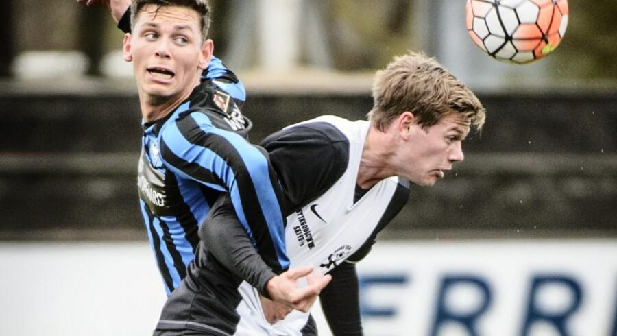 Skive - her i aktion mod HB Køge - kommer ikke til at spille søndag i Næstved. Scanpix/Mathias Løvgreen Bojesen