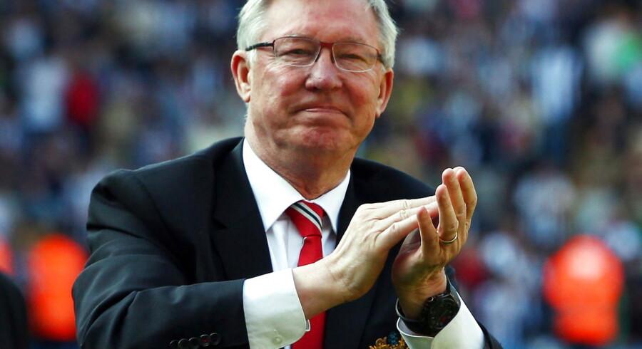 Manchester United's legendariske manager, Sir Alex Ferguson, hyldede Laudrup før deres kamp i sidste sæson.