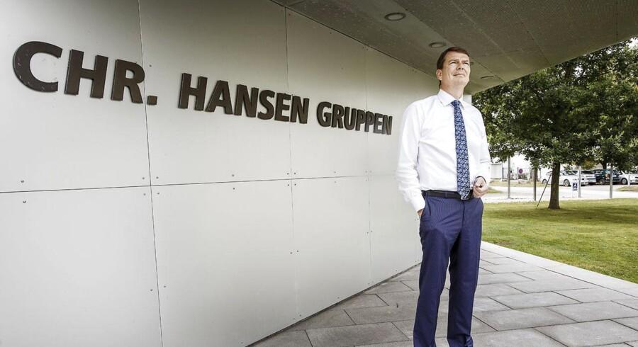 I dag kan aktionærerne i Chr. Hansen glæde sig over at de får udbetalt et udbytte svarende til 3,77 kr. pr. aktie.