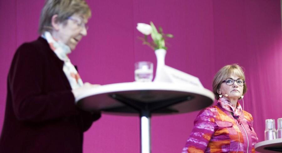 Pia Kjærsgaard fra DF og kulturminister Marianne Jelved debattere under Det Radikale Venstres nytårsstævne på Hotel Nyborg Strand.