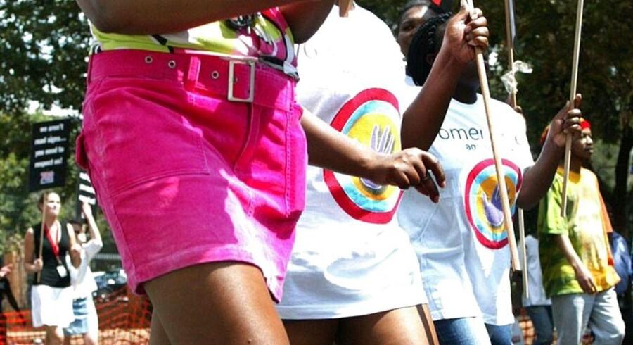 Kvinder i Swaziland har tidligere demonstreret for deres ret til at bære korte nederdele.