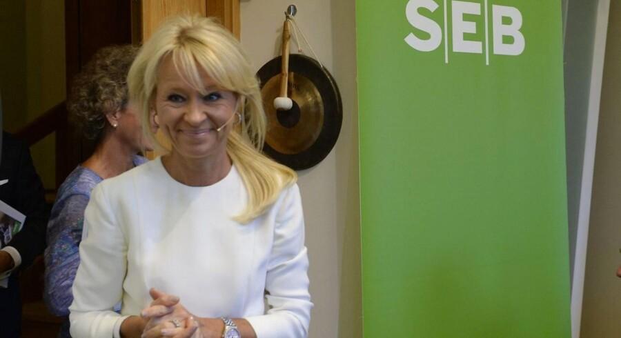 """""""Igen oplevede vi svagheden i verdensøkonomien, og at stemningen i erhvervssegmentet er blevet mere forsigtig,"""" udtaler Annika Falkengren, der er administrerende direktør i svenske SEB Enskilda."""