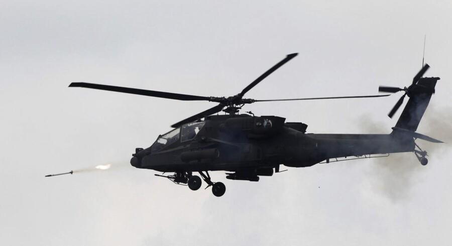 En Apache-helikopter magen til den, der indgår i sagen mod en dansk kompagnichef.