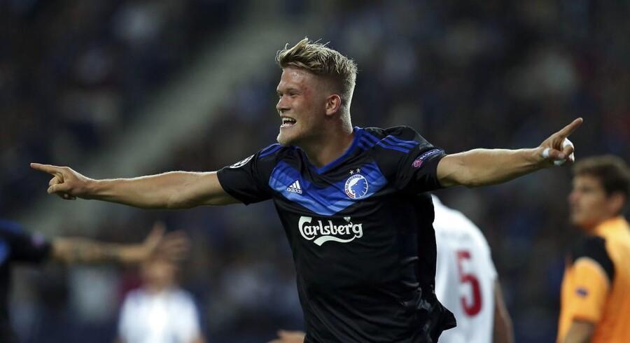 Andreas Cornelius scorede til stillingen 1-1 på udebane mod Porto i Champions League.