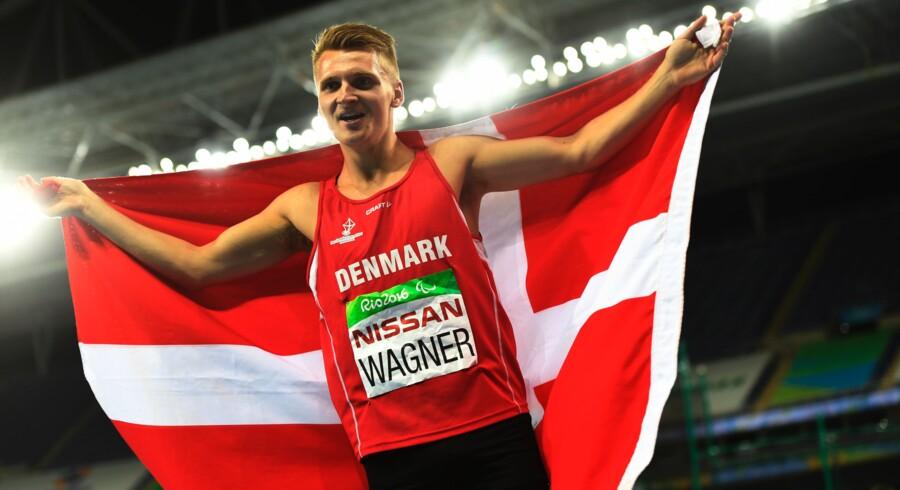 Daniel Wagner vandt sølv i 100 meter ved para-OL i Rio. Scanpix/Christophe Simon