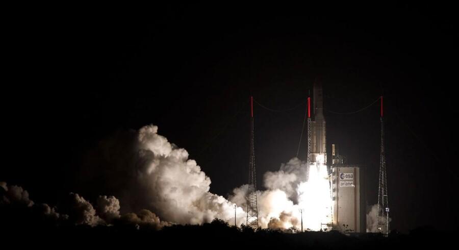 En ESA-raket bliver sendt til himmels.