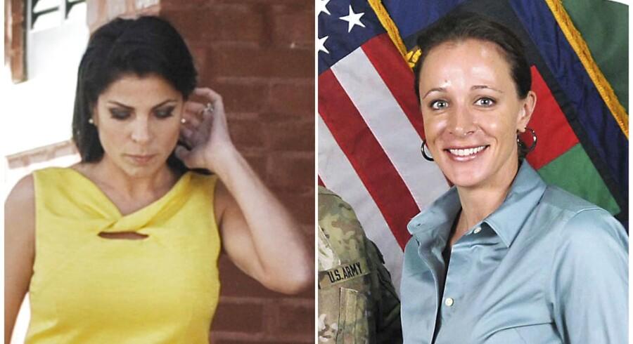 De amerikanske medier er nu begyndt at grave de slibrige detaljer frem i dramaet omkring en af USAs mest magtfulde mænd. Og der er nok at tage af. Her er Petraeus elskerinde til højre, der angiveligt var jaloux på Jill Kelley (tv).
