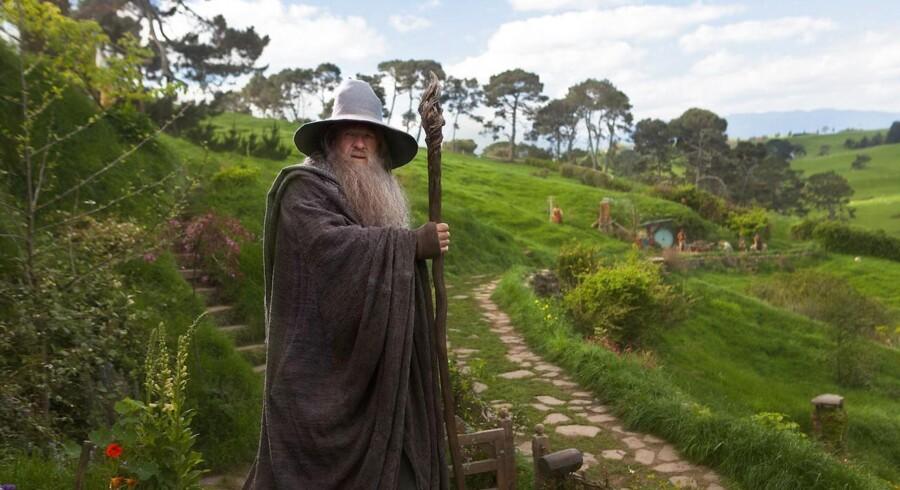 Skuespiller Ian McKellen i en scene fra filmen »The Hobbit: En uventet rejse«.