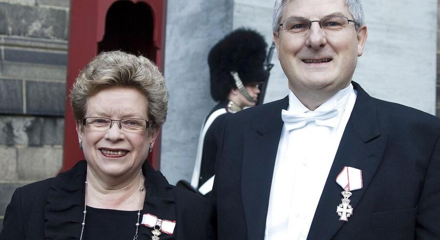 Rektor for University College Sjælland Ulla Koch og ressourcedirektør samme sted Niels Benn Sørensen