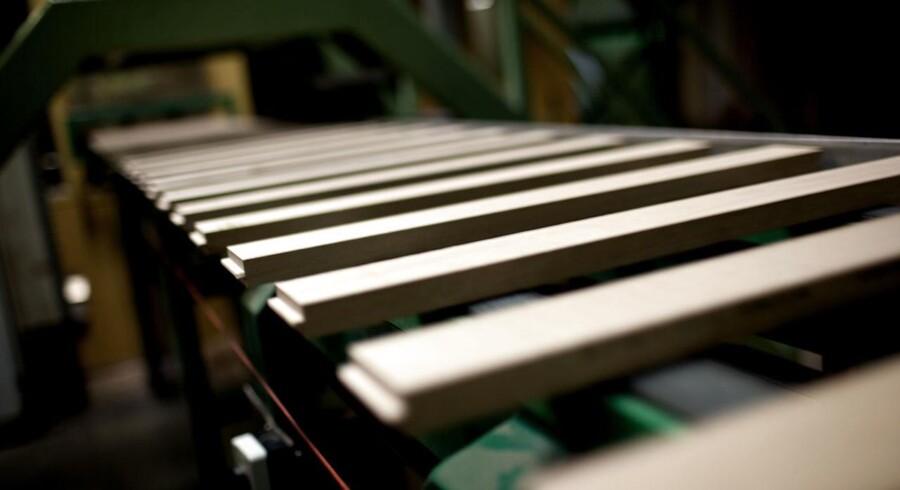 Her et foto fra produktionen på Junckers fabrikker i Køge.
