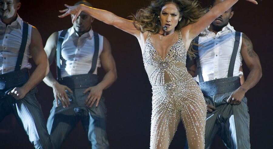 Jennifer Lopez under en koncert i Rotterdam. Lørdag aften var det publikum i Forum, hun optrådte for.