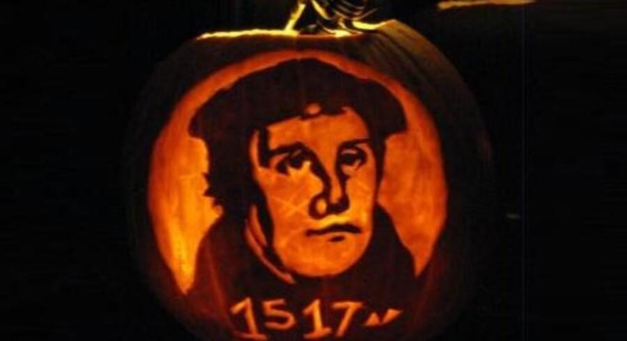 Et økumenisk græskar forener Halloween med Reformationsdagen.