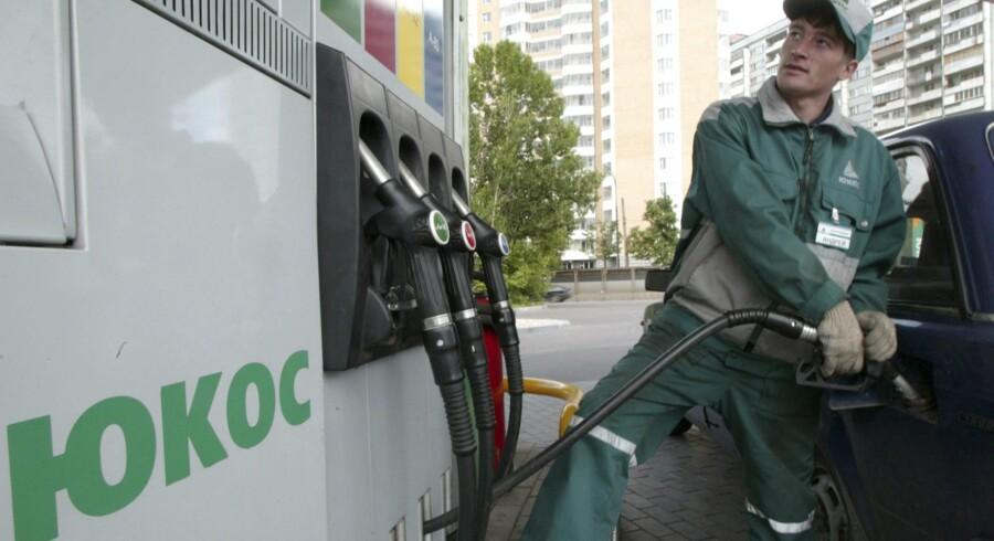 Det russiske olieselskab Yukos, som var et af verdens største, inden de blev tvunget ud i en konkurs, er nu blevet tilkendt en erstatning på 50 mia., hvilket formentlig er historiens største. Rusland har begrænsede muligheder for at stille spørgsmål ved kendelsen. Foto: Sergei Karpukhin/Reuters