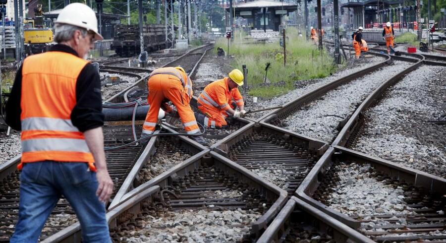 Arkivfoto. Sporarbejde omkring hovedstaden giver massive togforsinkelser mod Jylland tirsdag 16. oktober.