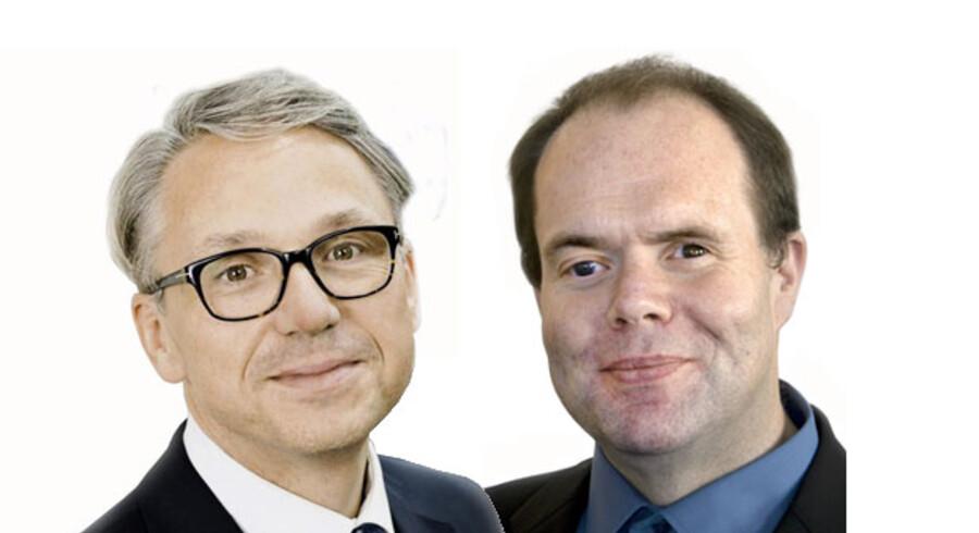 Tue Byskov Bøtkjær, formand for Det Centrale Handicapråd, og Thorkild Olesen, formand for Dansk Blindesamfund