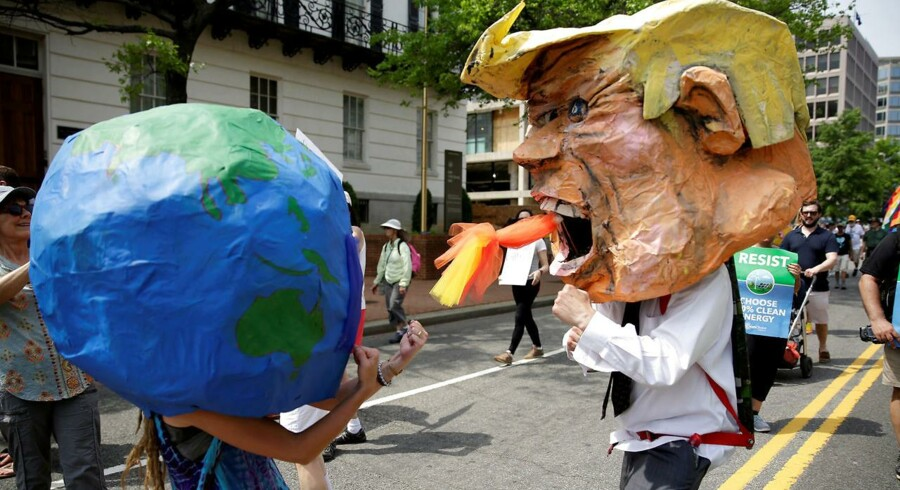Demonstranter under folkets klimamarch i Washington 29. april i år.