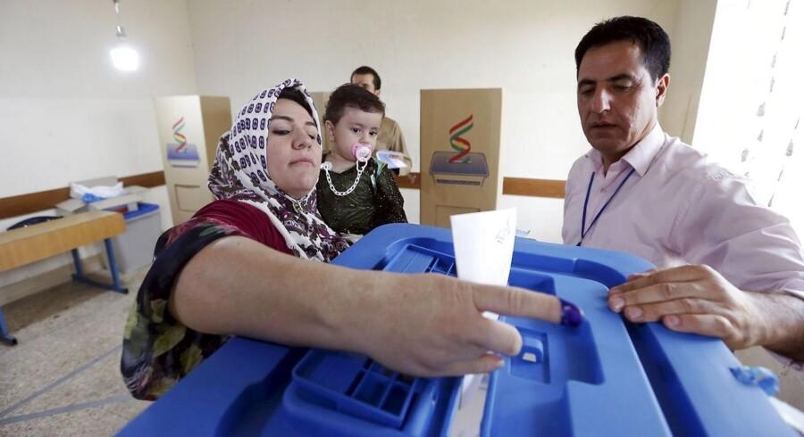 I en by i det nordlige Irak er borgerne ængstelige inden mandagens afstemning om kurdisk uafhængighed.