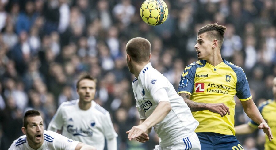 Alka Superliga-kampen mellem FC København og Brøndby i Parken i København, søndag den 5. november 2017. Brøndby IF vandt 0-1. (Foto: Mads Claus Rasmussen/Scanpix 2017)