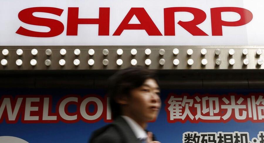 Arkivfoto: Sharp Corp logo.