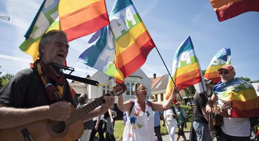 Stemning ved Folkemødets åbning på Bornholm torsdag d.15. juni 2017. (Foto: Ida Guldbæk Arentsen/Scanpix 2017)
