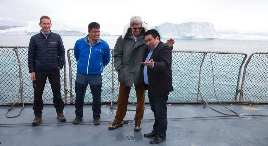Kristian Jensen, Kim Nielsen, John Kerry og Vittus Qujaukitsoq.