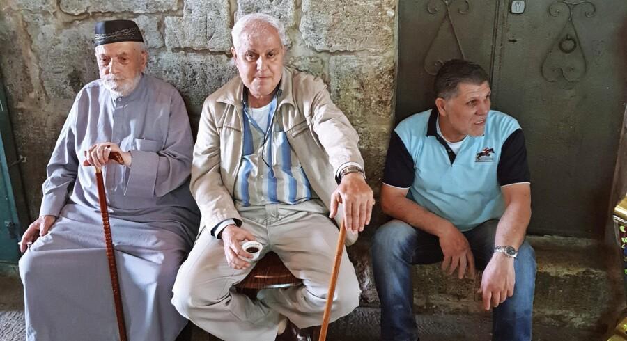 De palæstinensere, som Berlingske mødte i Jerusalem lørdag, forventede alle, at der ikke kommer til at ske noget ud over det sædvanlige i byen tirsdag, hvor der er bebudet storstilede demonstrationer i Gaza. Foto: Jotam Confino