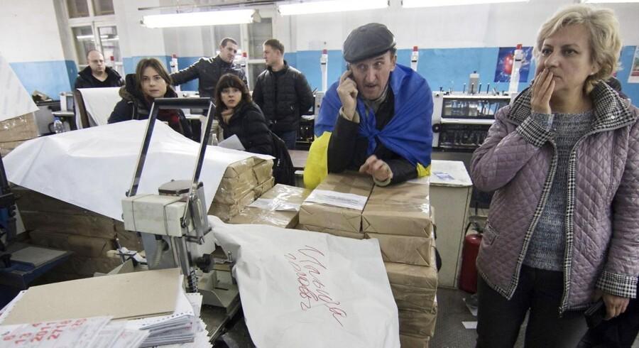 I den ukrainske by Mariupol blev søndagens lokalvalg aflyst, selv om stemmesedlerne var klar til ibrugtagning.