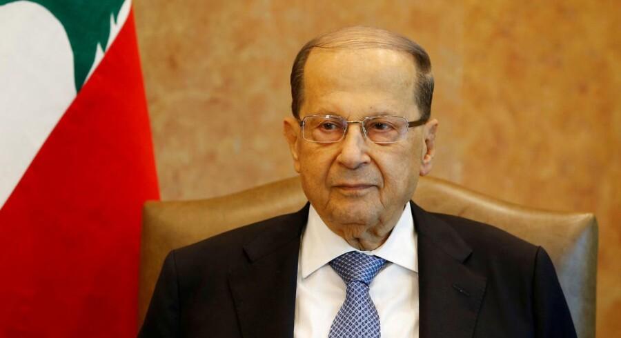 Den libanesiske præsident, Michel Aoun, premierminister Saad al-Hariri og parlamentsformanden Nabih Berri diskuterede tirsdag de israelske trusler.