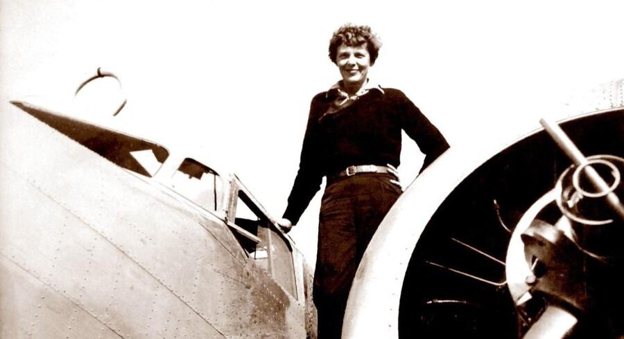 ARKIVFOTO. Amelia Earhart er både en helt i USA og et forbillede for mange overalt i verden.