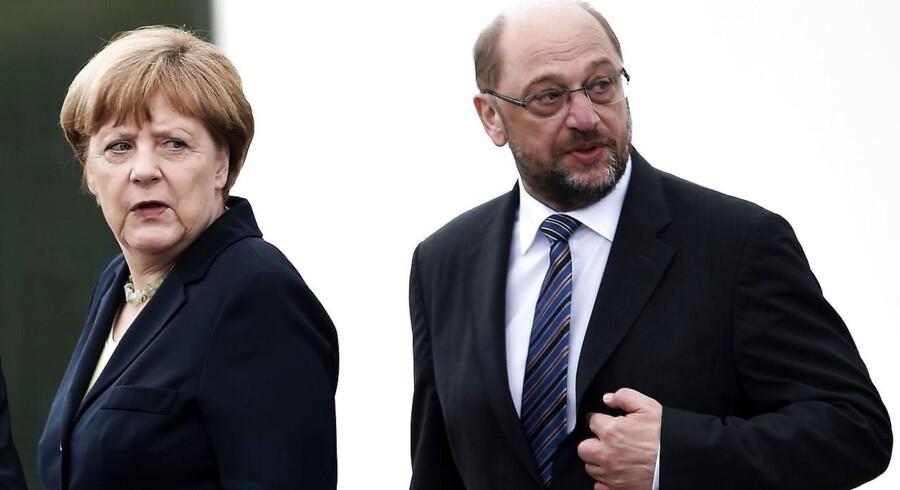 Angela Merkel og Martin Schulz.