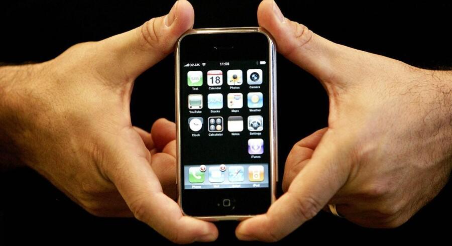 Arkivfoto: Mandag er det præcis ti år siden, at Apple lancerede sin første iPhone.