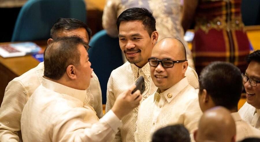 Der er sttore protester mod Filippinernes præsident, Rodrigo Duterte.