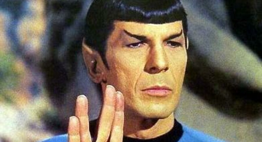 Leonard Nimoy som den tænksomme Spock i den klassiske science fiction-serie »Star Trek«.
