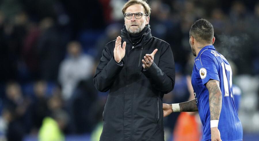 2017 har foreløbig været en nedtur for Jürgen Klopp, som senest måtte se sit Liverpool-hold tabe 1-3 i Leicester. Reuters/Darren Staples