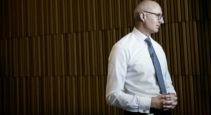 ARKIVFOTO: Koncernchef Lars Fruergaard Jørgensen taler med pressen efter Novo Nordisk har præsenteret årsregnskabet for 2016 på et pressemøde i Bagsværd torsdag d. 2 februar 2017.