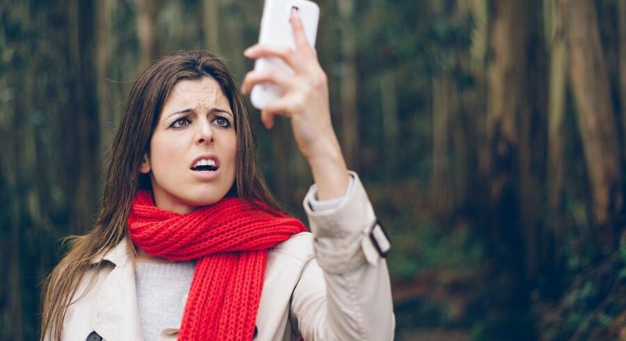Argh, der er ingen forbindelse! Der er stadig danskere, som ikke kan få ordentlig mobil- og internetforbindelse, hvor de bor. Arkivfoto:Iris/Scanpix