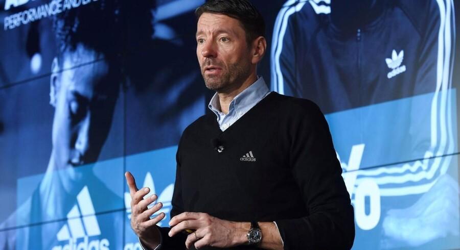 Arkivfoto: Danske Kasper Rørsted fortsætter som administrerende direktør med at trække omsætningen og overskuddet hos den tyske sportsgigant Adidas i opadgående retning.