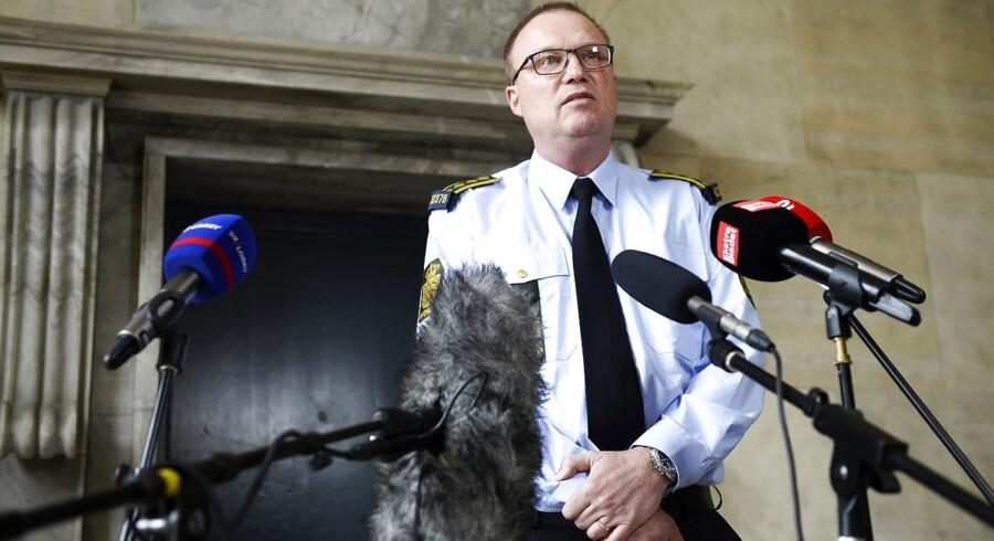 Pressebriefing på Københavns Politigård efter skyderi på Nørrebro.