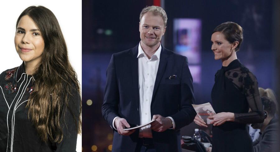 Christian Degn og Lise Rønne (billede t.h.) var værter ved dette års Danmarks Indsamling. Foto: Thomas Lekfeldt og Agnete Schlichtkrull/DR presse