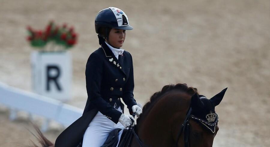 ARKIVFOTO: Der er ikke tilstrækkeligt med beviser mod den sydkoreanske dressurrytter Chung Yoo-ra til, at det kan begrunde udlevering til kvindens hjemland.
