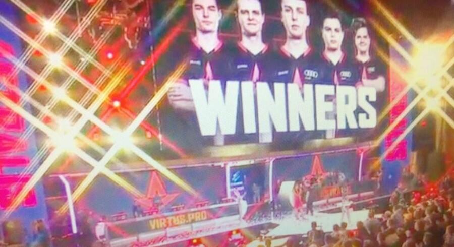Det danske Counter Strike-hold Astralis vandt tidligere i år sin første major i USA. Sejren indbragte holdet knap 3,5 millioner kroner. (arkivfoto) Free/Screenhot