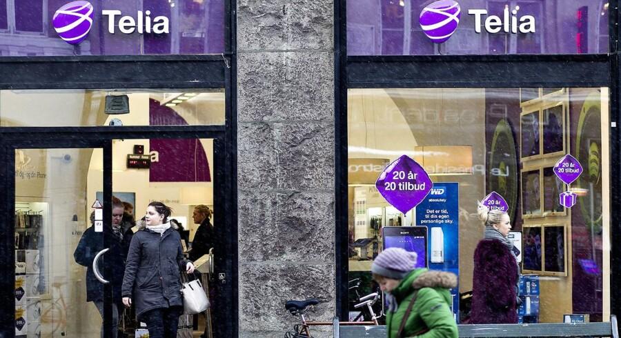 Telia er det tredje af de fire store teleselskaber, som fremlægger resultatet for første halvår. Arkivfoto: Nils Meilvang, Scanpix