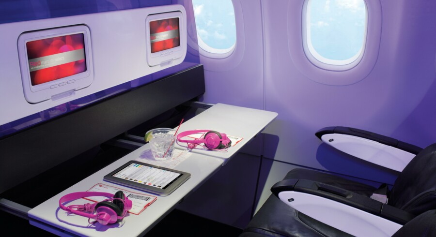 Virgin America vil tilbyde mulighed for at streame film over internetforbindelse, f.eks. fra Netflix, om bord på flyene. Foto: Virgin America