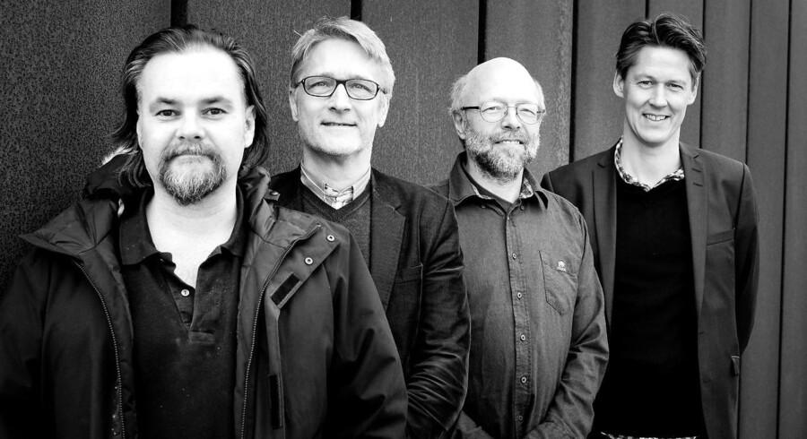 De fire vismænd - formandskabet i Det Økonomiske Råd. Fra venstre: Carl-Johan Dalgaard, Torben Tranæs, Lars Gårn Hansen og Michael Svarer (overvismand)