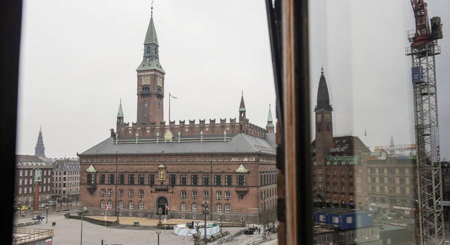 I en række år har der været en negativ vækst pr. indbygger i København. (Arkivfoto: Rådhuspladsen i København)